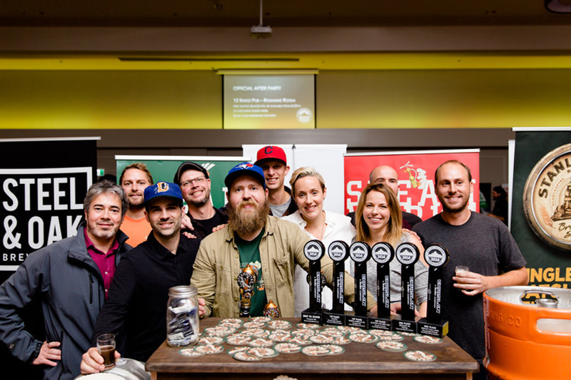 The Steamworks team with their BCBA trophy haul. (Photo: Alison Page)