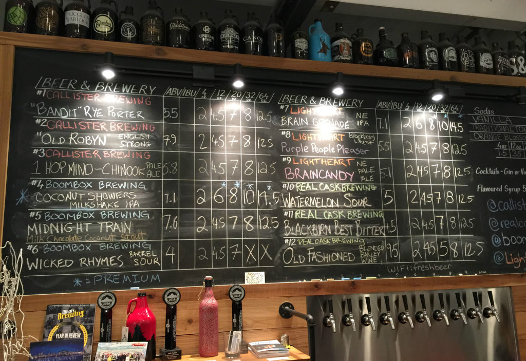 Callister Brewing Tap List