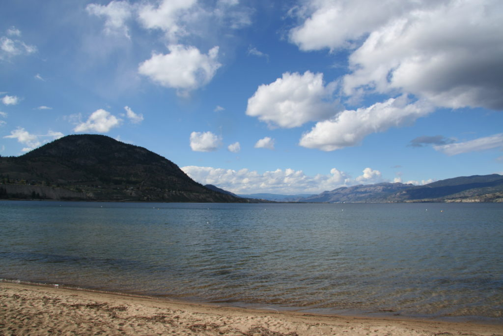 The Fest of Ale venue is just a short stroll from the beach at the south end of Okanagan Lake.