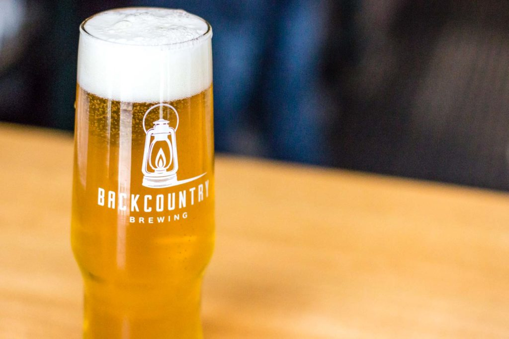 Squamish Ale Trail Backcountry Brewing Pint of Pilsner