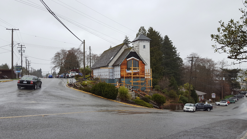The brewpub in Ucluelet taking shape.