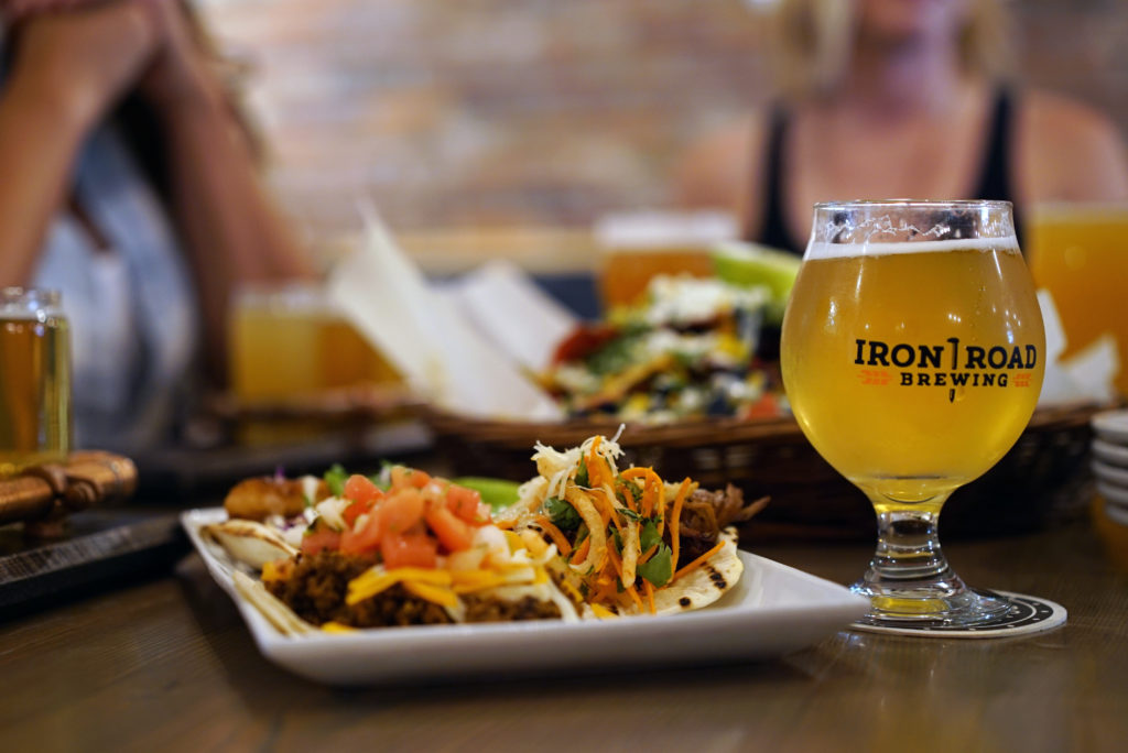 A meal and a beer at Iron Road Brewing