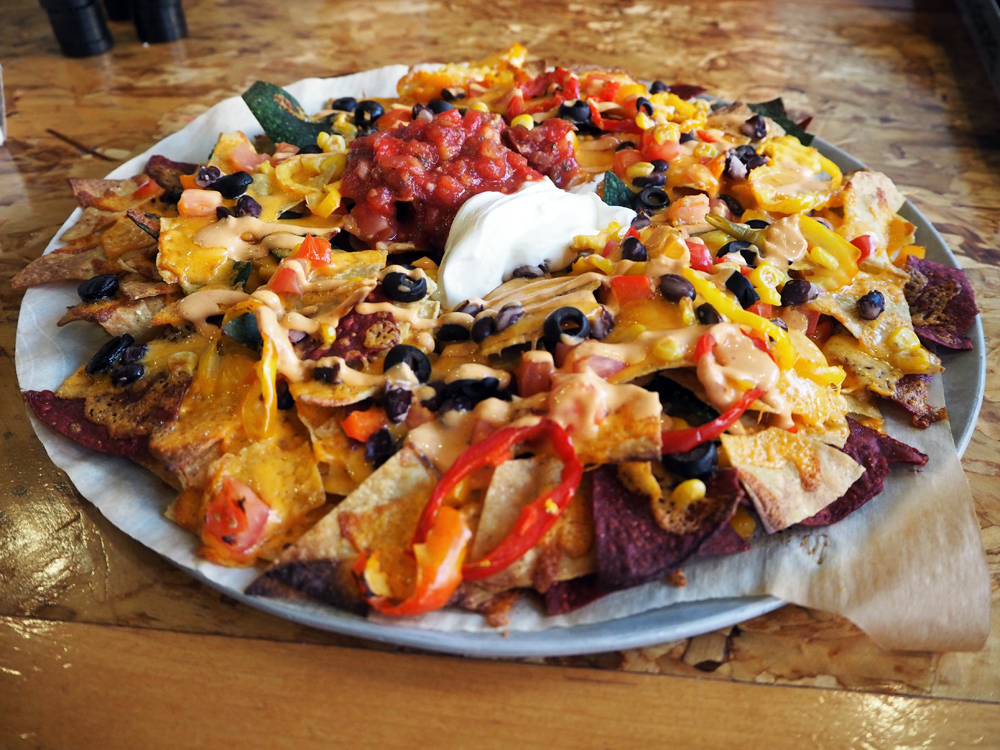 The nacho plate at Red Collar Brewing. Photo: Chelsea McDowell