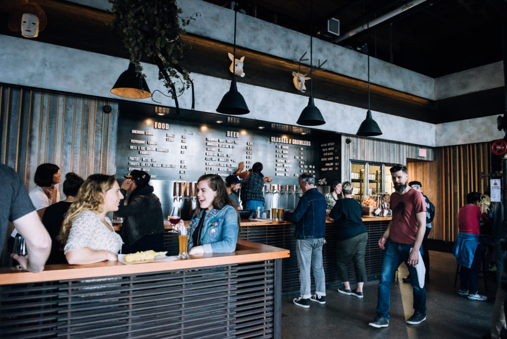 Taproom at Strange Fellows Brewing, photo credit Olga Zwart