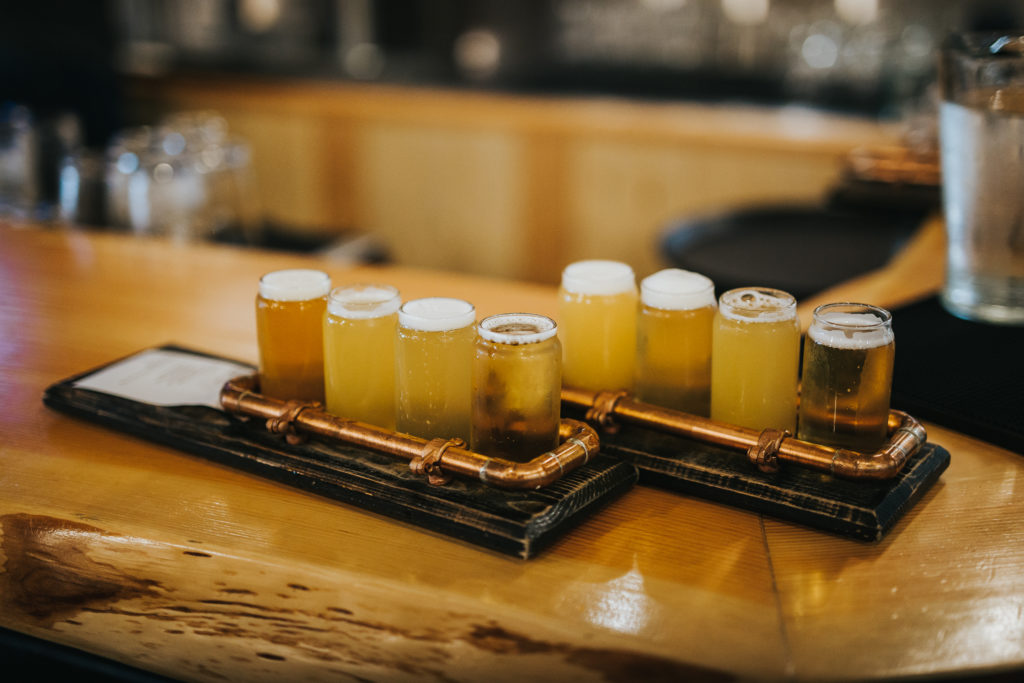 Flights at Iron Road Brewing