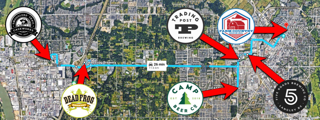 bc ale trail - craft beer tourist - langley breweries