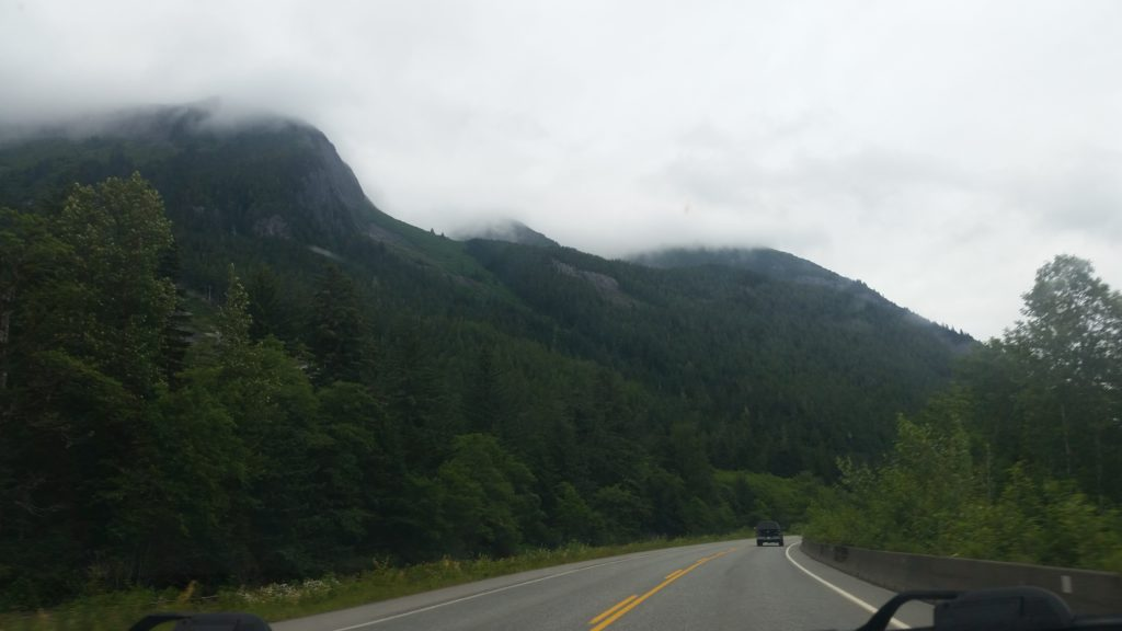 image of gloomy day on Highway 16 from Prince Rupert