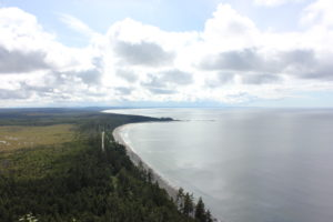 image of Agate Beach from the top of Tow Hill in Haida Gwaii, BC