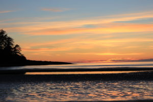 image of sunset at North Beach, Haida Gwaii