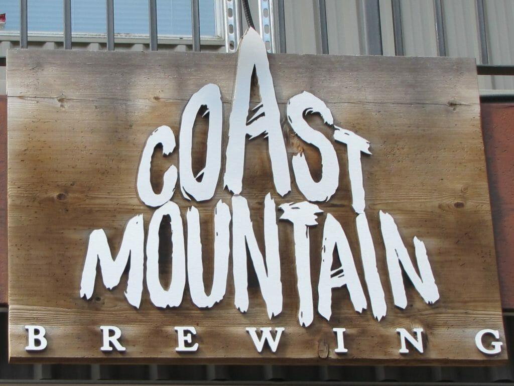 Whistler's Coast Mountain Brewing sign above entrance