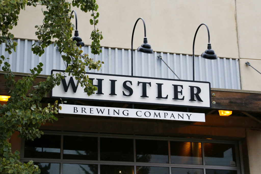 image of Whistler Brewing Company's entrance sign
