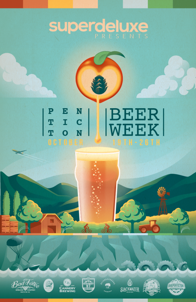 Penticton craft beer week held October 19th to 26th during BC Craft Beer Month
