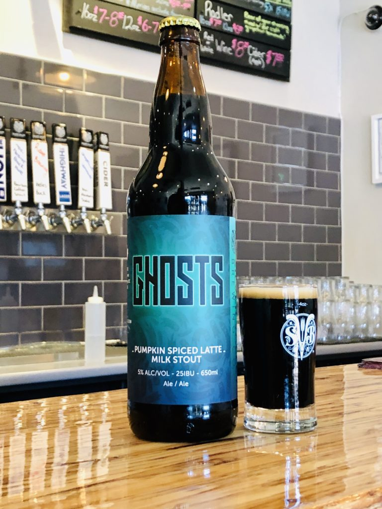 Ghosts Pumpkin Spiced Latte Milk Stout limited release from Silver Valley Brewing