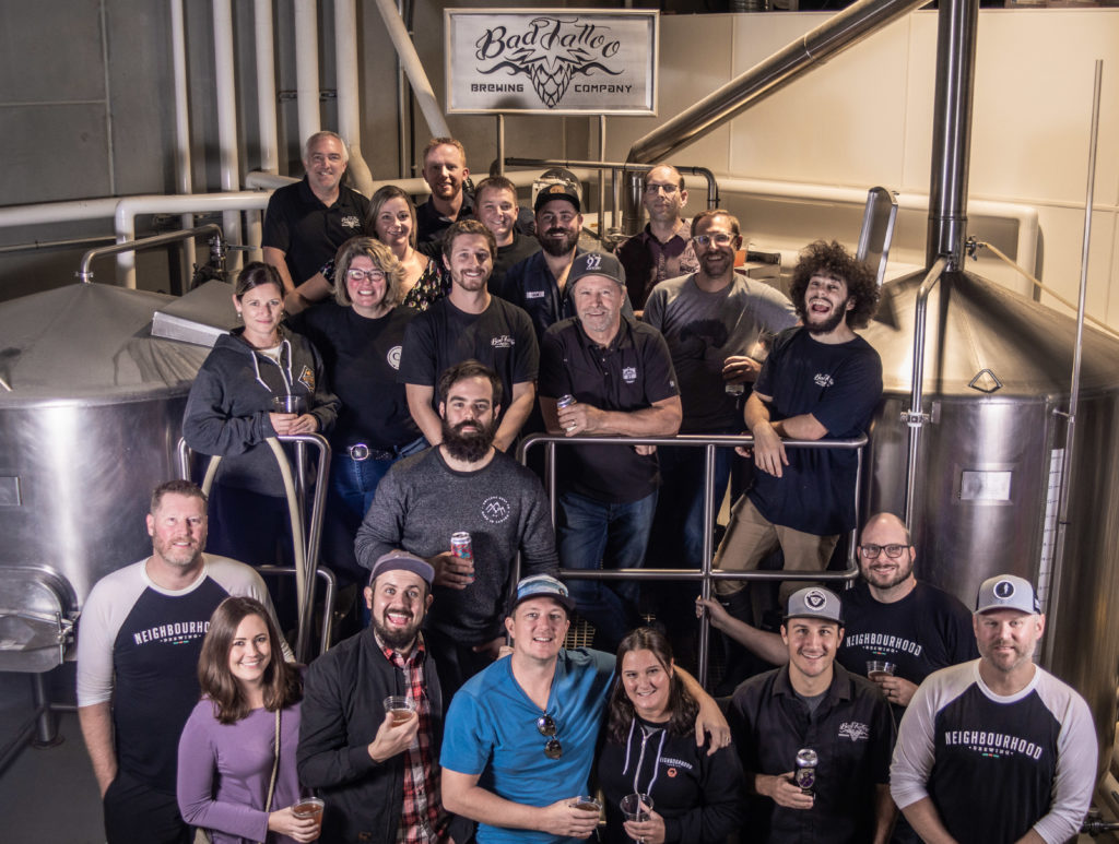 collaboration brewers at Bad Tattoo Brewing Company in Penticton, BC