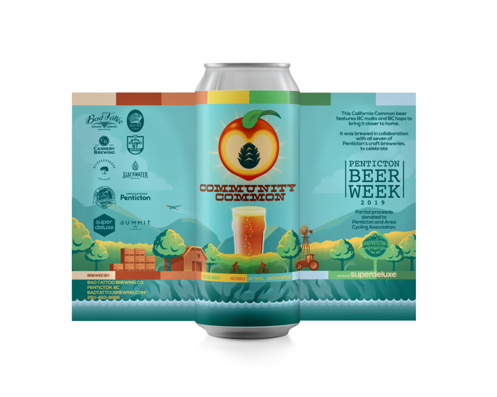 Community Common can design, released for Penticton Beer Week