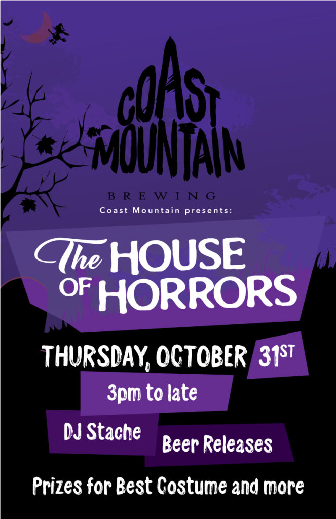 Halloween 2019 event at Coast Mountain Brewing on Whistler Ale Trail