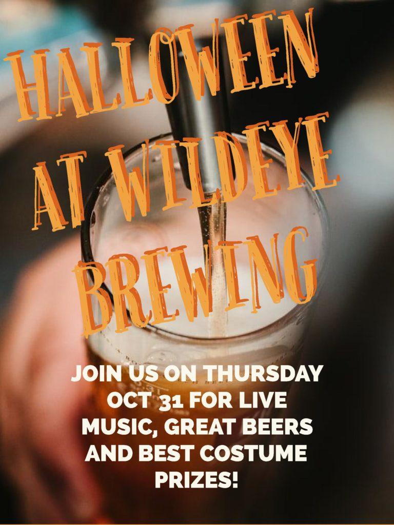 Halloween 2019 event at Wildeye Brewing on Vancouver's North Shore Ale Trail