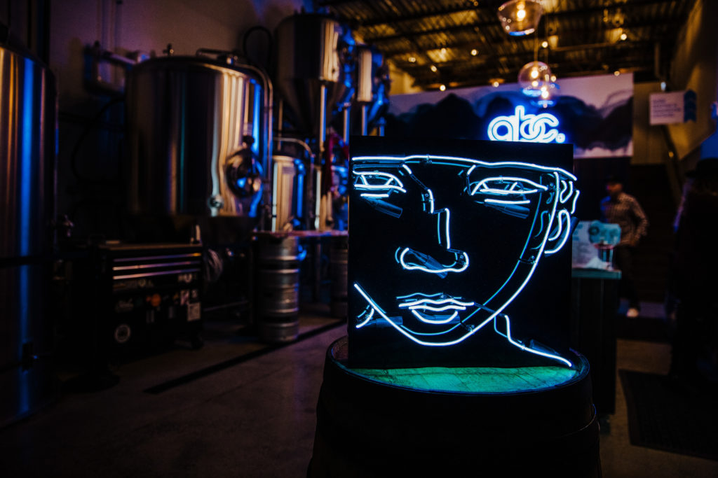 Another Beer Co.'s neon art exhibit happening in the brewery from Nov. 1 - 24