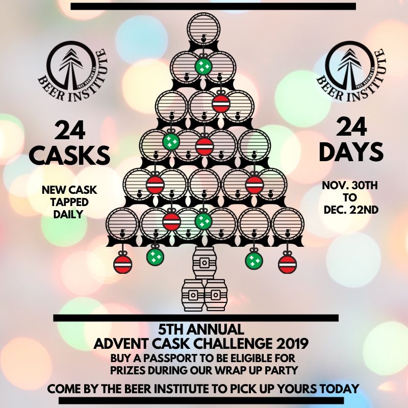 Tree Beer Institutes Advent calendar promotional poster