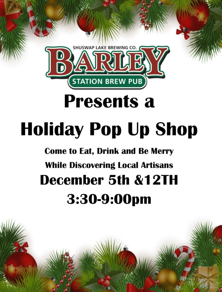 Barley Station Brew Pub holiday pop-up shop