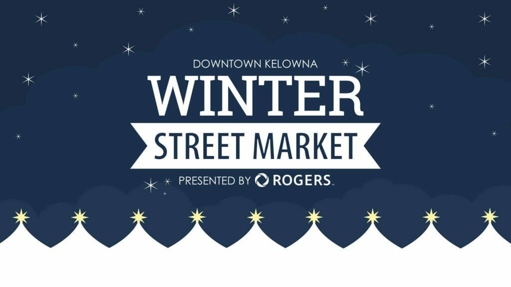 Kelowna winter street market poster