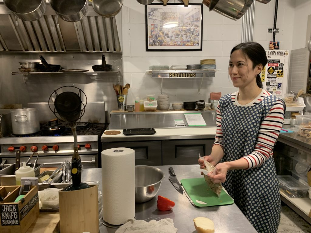 photo of Courtney Koga, one of the masterminds behind Provisions Kitchen and Catering