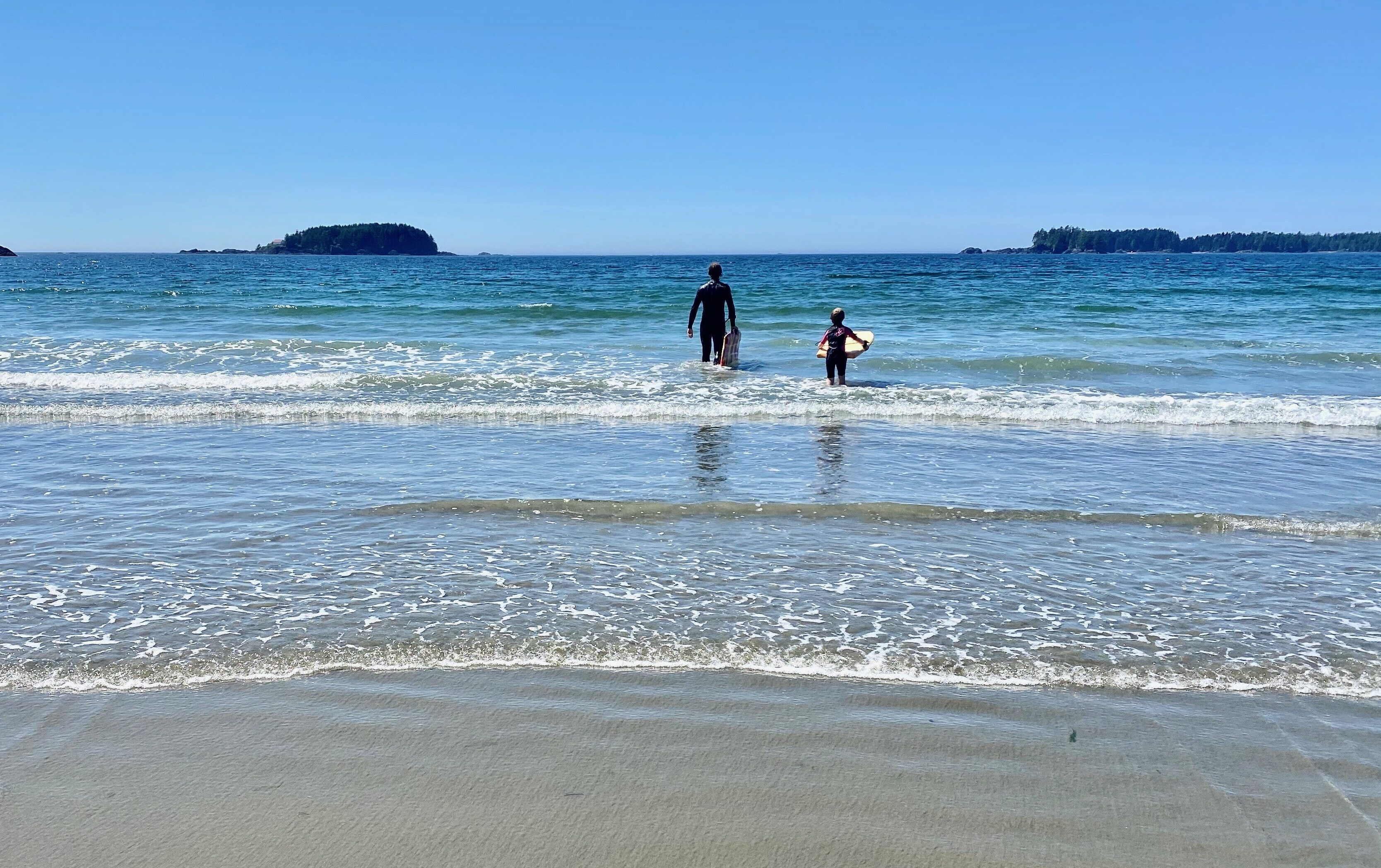 Enjoying the beach in Pacific Rim National Park Reserve West Coast Vancouver Island