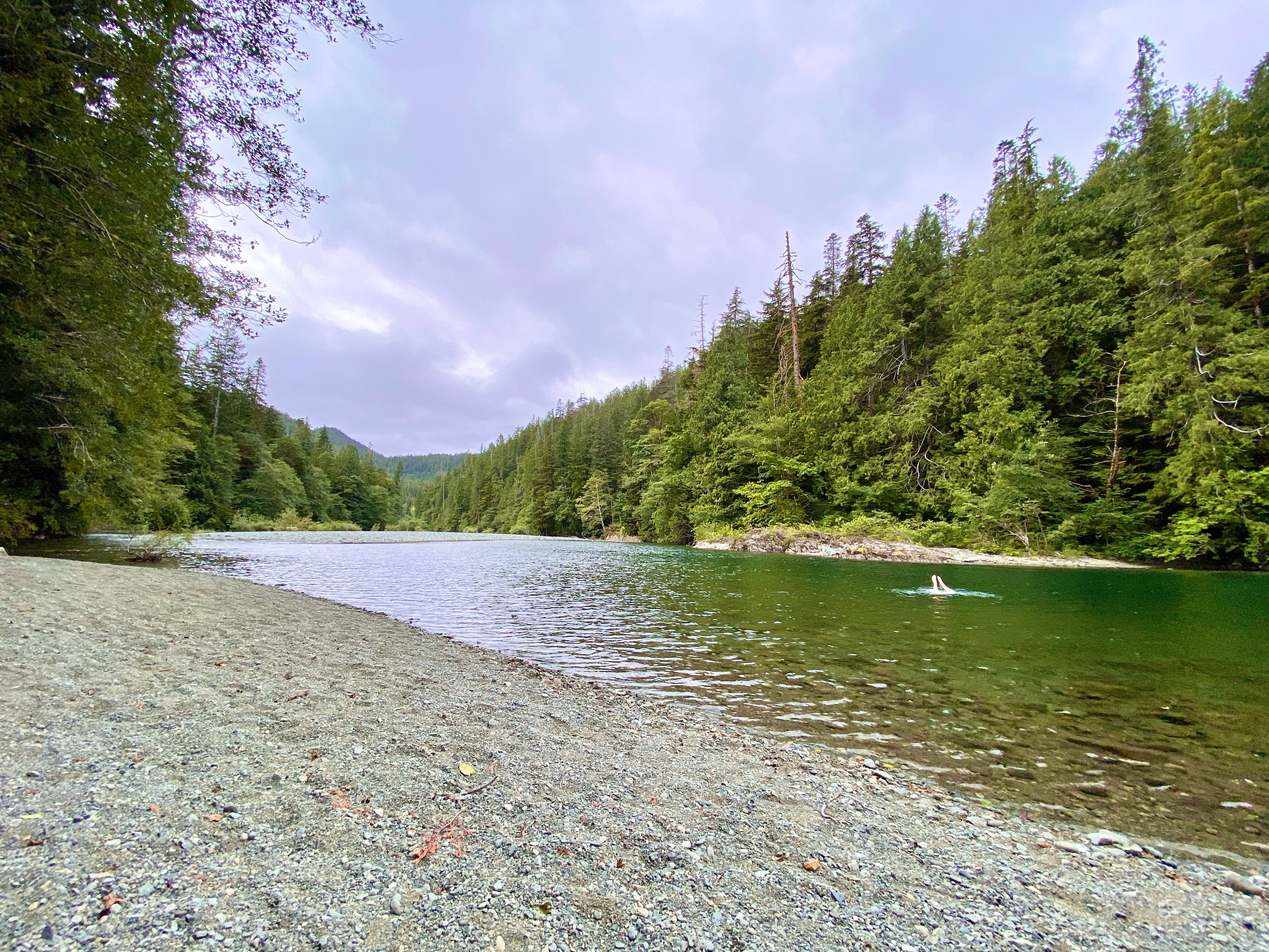 Canoe Creek Recreation Site on BC Highway 4