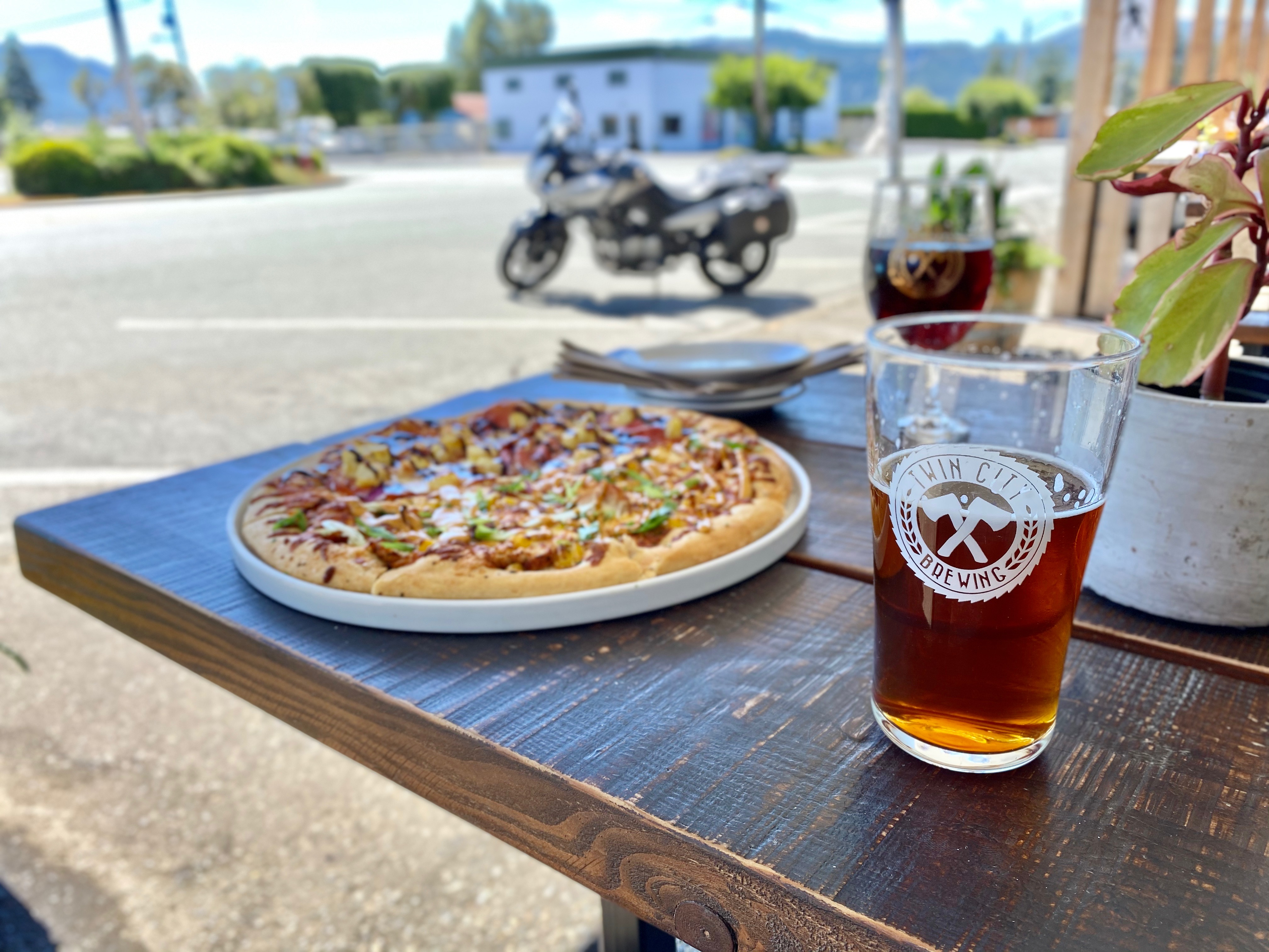 West Coast Vancouver Island Pizza and beer at Twin City Brewing Company on the BC Ale Trail