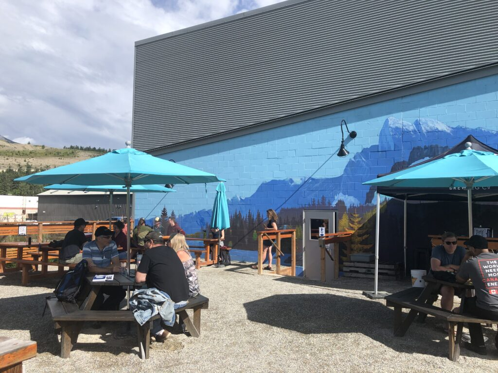 The patio at Whitetooth Brewing on the BC Ale Trail