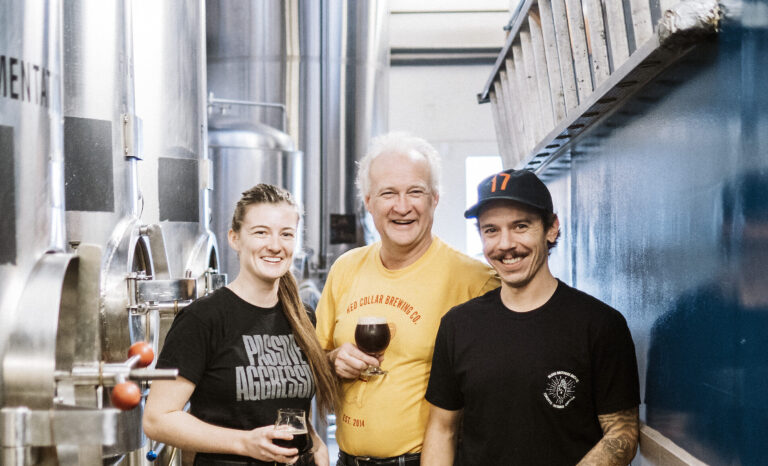 The team at Red Collar Brewing in Kamloops on the BC Ale Trail