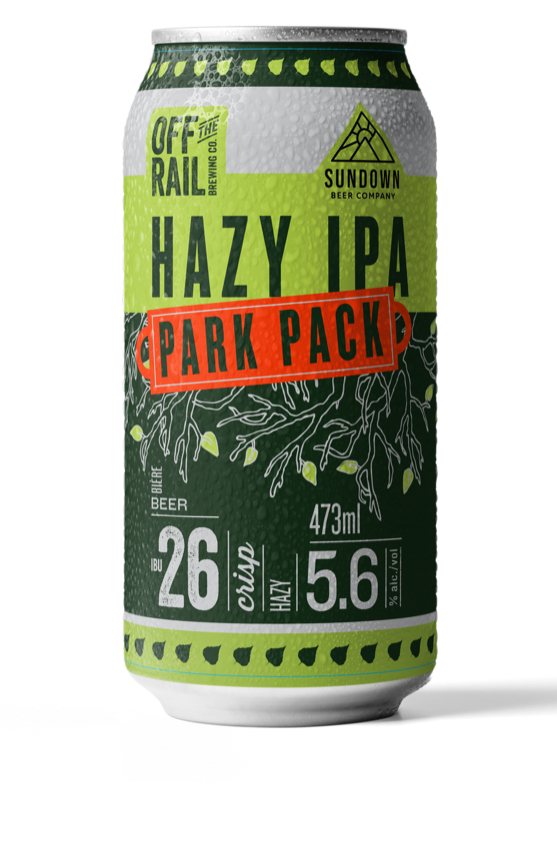 Park Pack Hazy IPA - Off the Rail Brewing