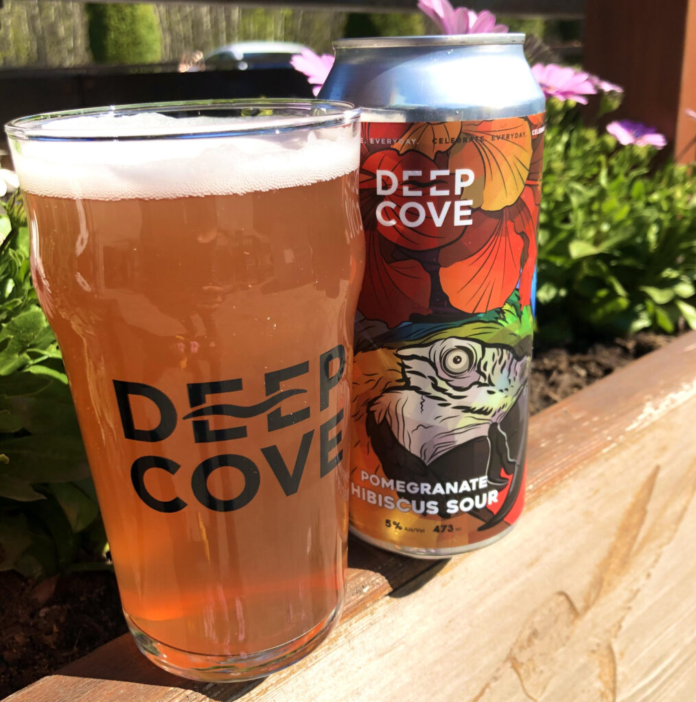spring beer releases Pomegranate Hibiscus Sour - Deep Cove Brewers & Distillers - BC Ale Trail